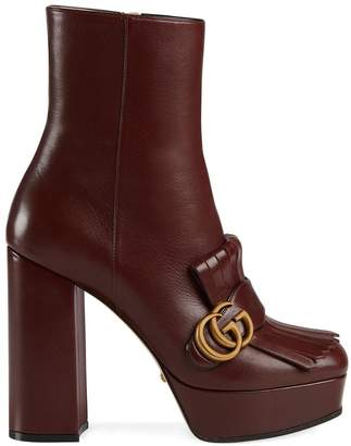 Gucci GG marmont heeled boots