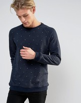 Pull&Bear Sweater In Navy With White Specks