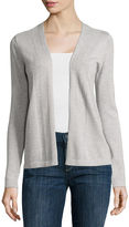 Liz Claiborne Long-Sleeve Open Cardigan