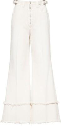 Miu Miu Drill high-waist trousers