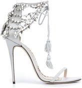 Marchesa 'Marissa' sandals - women - Leather/Silk Satin - 35.5