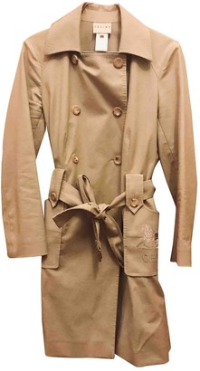 Celine Beige Cotton Trench Coat for Women Vintage