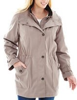 JCPenney MISS GALLERY Miss Gallery Hooded Stadium Jacket - Plus
