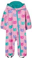 Hatley Pink Cat Print Rain Puddle Suit