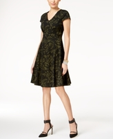 Alfani Petite Printed Fit & Flare Dress, Created for Macy's