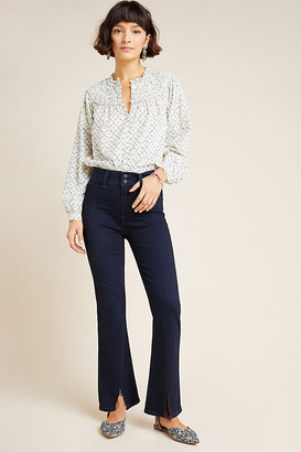 Paige Claudine High-Rise Flare Jeans By in Blue Size 25