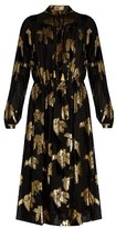 ADAM by Adam Lippes Fil-coupé and flocked velvet georgette dress
