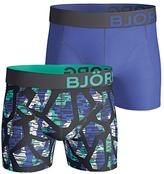 Bjorn Borg Texture Plain Trunks, Pack Of 2, Blue