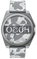 Hugo Boss Unisex camouflage-print watch with reverse logo