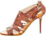 Jimmy Choo Snakeskin Cutout Sandals