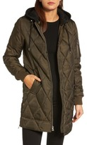 Vince Camuto Women's Quilted Jacket With Detachable Hood