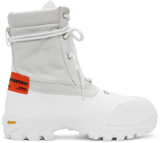 Heron Preston White Security Boots