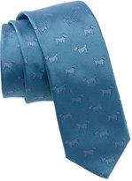 Salvatore Ferragamo 'Scottie Dog' Skinny Woven Silk Tie