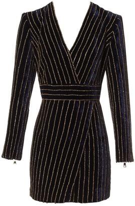 Balmain Blue Velvet Dresses