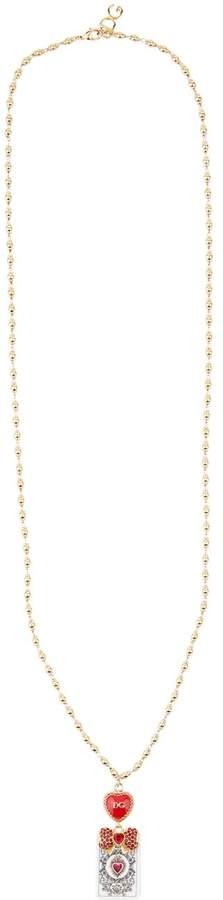 Dolce & Gabbana Embellished Playing Card Necklace
