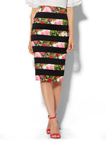New York & Co. Floral Bandage Pencil Skirt