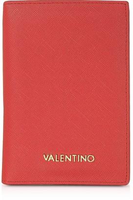 Valentino By Mario Valentino Sea Saffiano Eco Leather Passport Holder