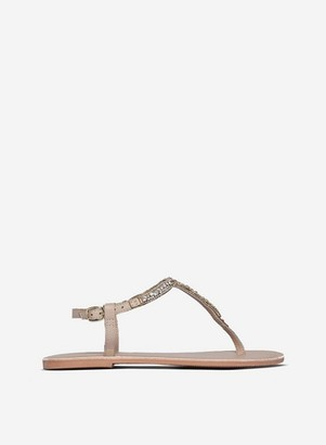Dorothy Perkins Womens Nude Leather 'Jules' Sandals