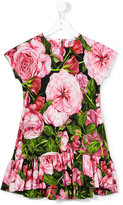 Dolce & Gabbana rose print dress - kids - Cotton - 3 yrs