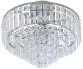 Collection Olivia 3 Light Chrome Ceiling Fitting - Clear