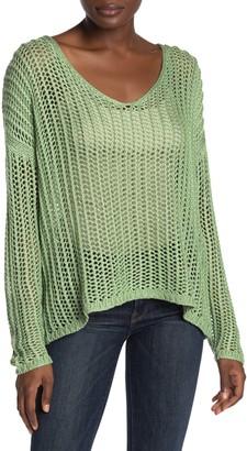 Tularosa Billie Open Stitch High/Low Sweater