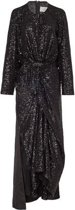 Preen by Thornton Bregazzi Farra Knotted Sequined Tulle Midi Dress