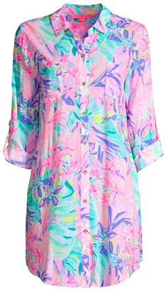 Lilly Pulitzer Natalie Printed Cover-Up Shirtdress