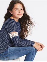 Marks and Spencer Striped Sweatshirt (3-14 Years)