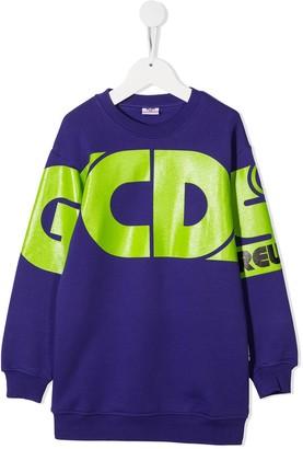 Gcds Kids Oversized Sweatshirt Dress