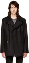 Saint Laurent Black Classic Peacoat