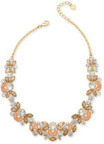 Charter Club Gold-Tone Multi-Crystal Collar Necklace, Only at Macy's