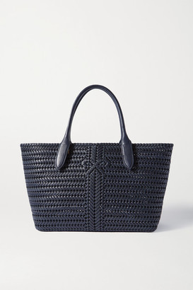 Anya Hindmarch The Neeson Woven Leather Tote - Navy