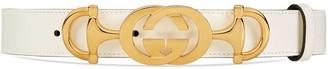 Gucci Leather belt with Interlocking G Horsebit