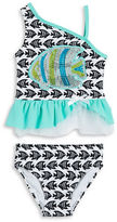 Flapdoodles Girls 2-6x Fish Tankini Swimsuit Set