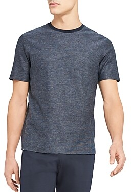 Theory Milan Cotton Micro Check Tee
