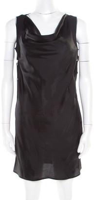 Rick Owens Black Harness Detail Sleeveless Tunic S