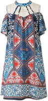 Speechless Print Cold Shoulder Peasant Dress - Girls' 7-16