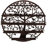 Sorbus Bronze Round 5 Tier Tree Silhouette Salon Nail Polish Rack/Wall Art Display