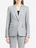 Calvin Klein Glen Plaid One-Button Suit Jacket