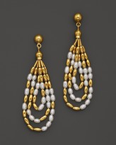 Gurhan 24K Yellow Gold Rain Earrings with Cultured Freshwater Pearls