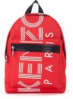 Kenzo In Red And White Nylon Backpack