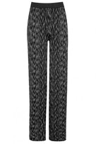 Select Fashion Fashion Womens Grey Dash Print Jersey Palazzo - size 12