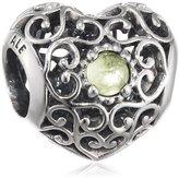 Pandora 791784pe August Signature Heart Peridot Charm