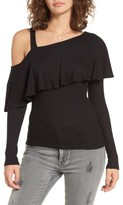 Soprano Women's Asymmetrical Ruffle Top