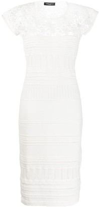 Frankie Morello Star Embroidered Cut-Out Detail Dress