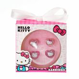 Hello Kitty Glitter Stud Earring Set - Girls
