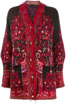 Etro bohemian print cardi coat