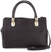 Cole Haan Benson Woven Leather Tote Bag, Black
