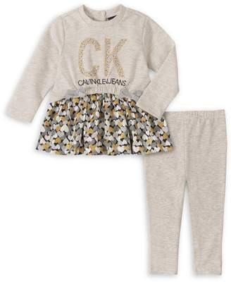 Calvin Klein Baby Girl's 2-Piece Cotton-Blend Tunic Leggings Set