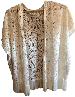 Abercrombie & Fitch Ecru Lace Top for Women